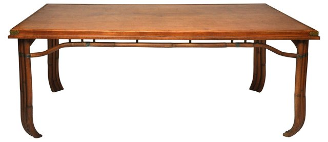 50's Asian Bamboo Table