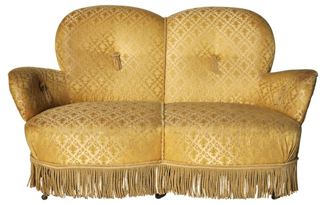 19th-C. Swedish  Loveseat