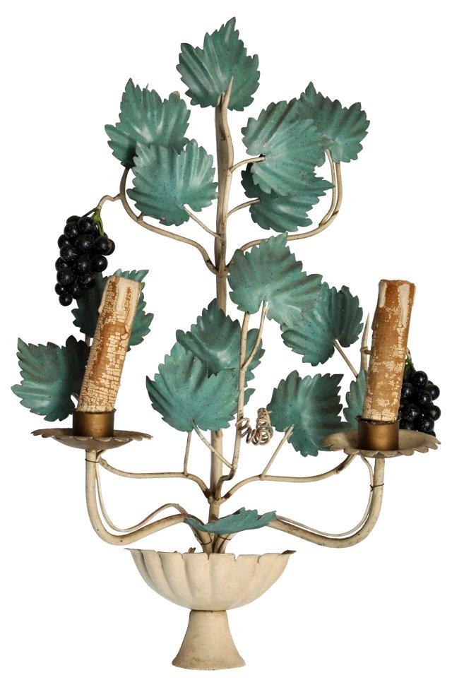 Italian Metal Grape Sconce