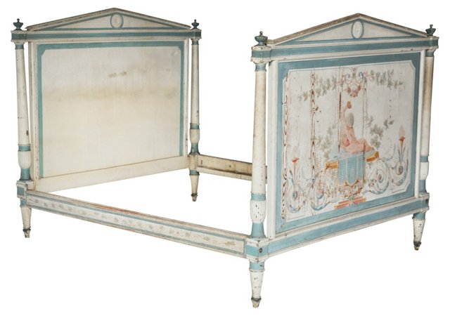 Late-18th-C. French Directoire Bed, Full