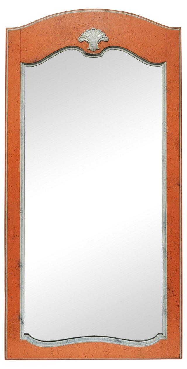 1970s Orange Shell Mirror