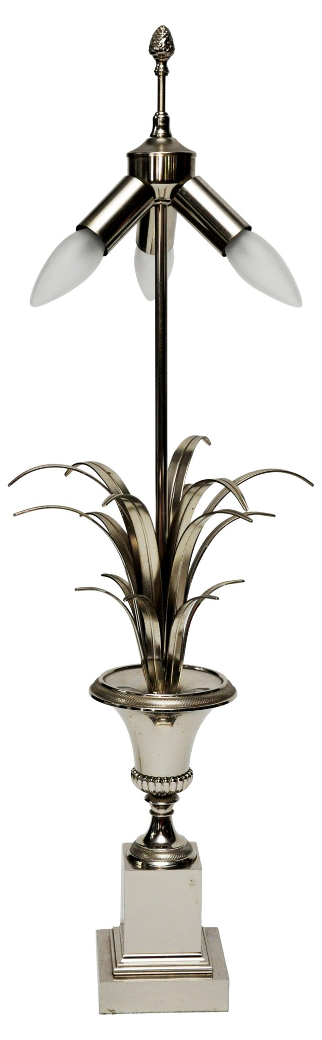 French Chrome Urn Lamp
