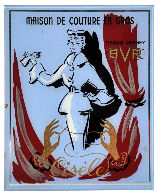 French Fashion Advertising Plaque