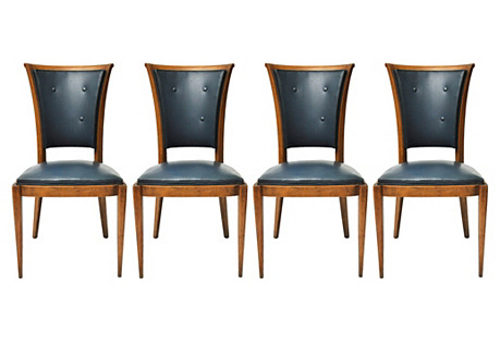 Midcentury French Chairs, S/4