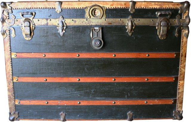 19th-C. Steamer Trunk