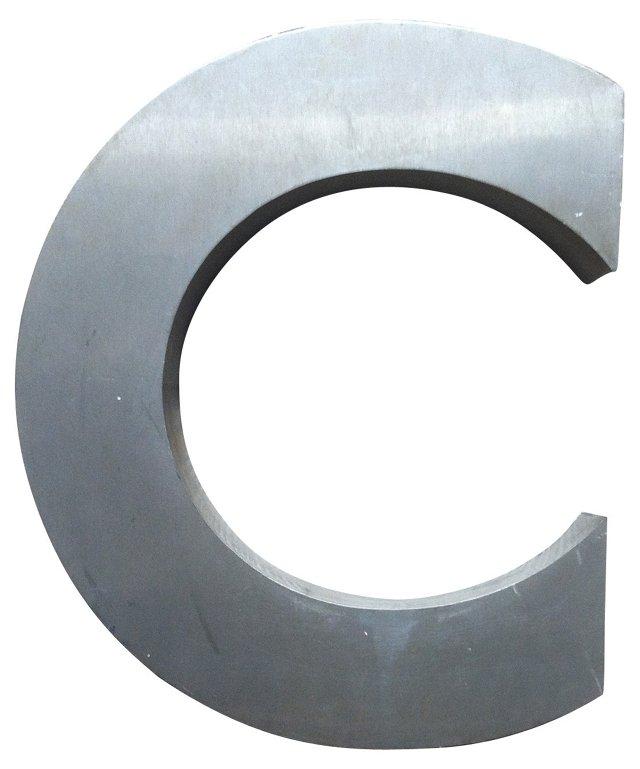 Stainless Steel Letter C