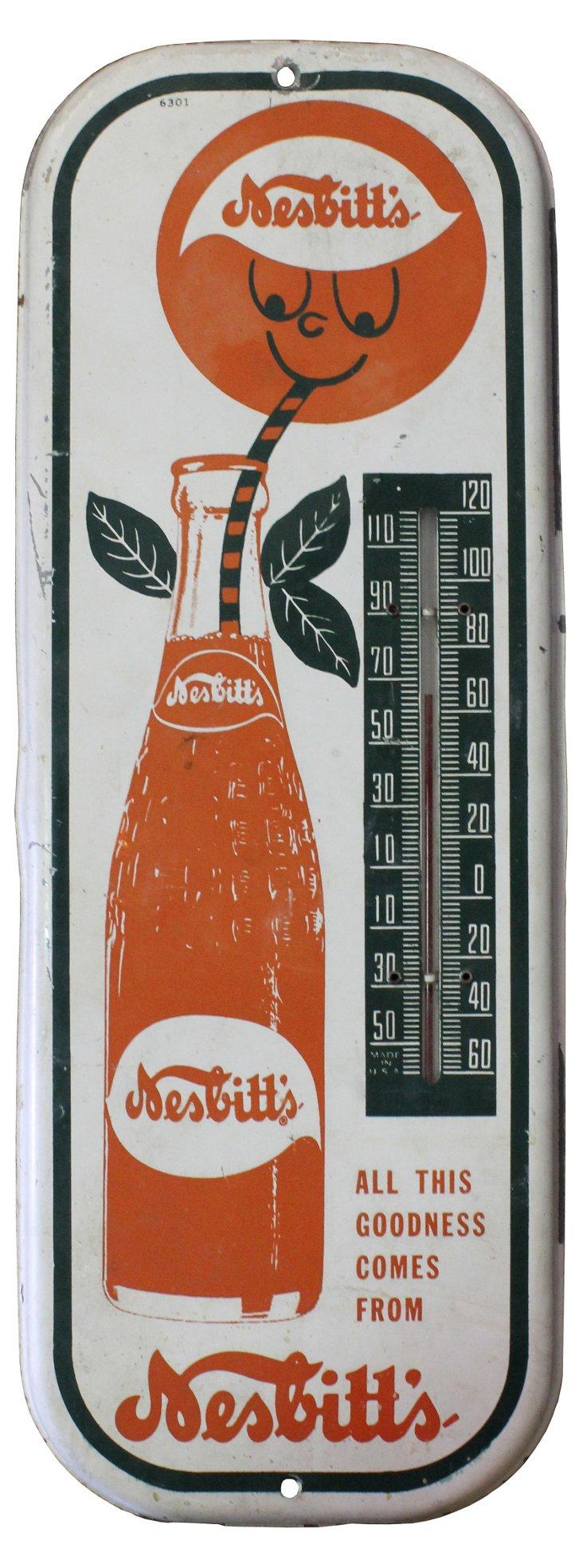 Nesbitt Soda Advertising Thermometer