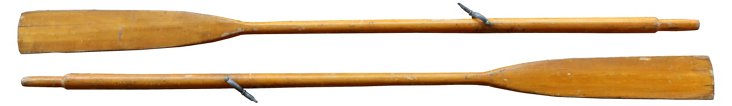 Natural Wood Finish Oars, Pair