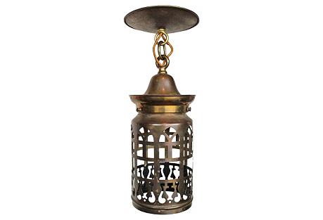 Cut-Brass Lantern Pendant
