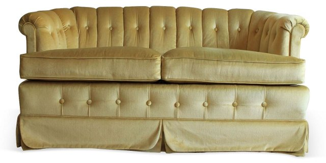 Gold Mohair Sofa