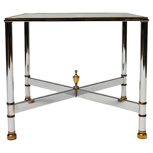 Brass & Steel Side Table