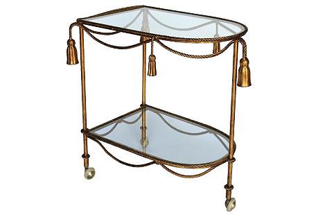 Rope & Tassel Bar Cart