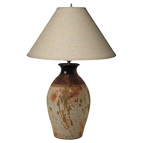 Signed Studio Pottery Lamp