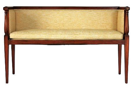 Petite Upholstered Settee