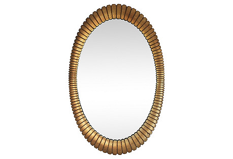 Gold Oval Mirror by Turner