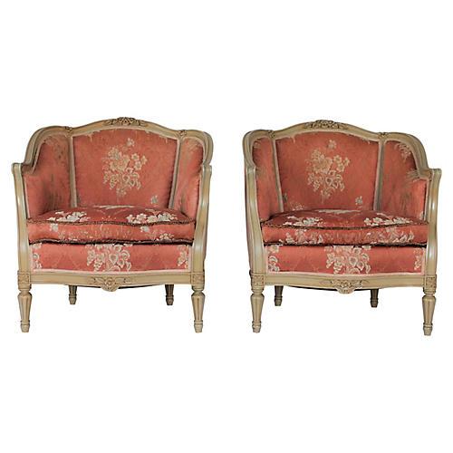Louis XVI-Style Bergères, Pair