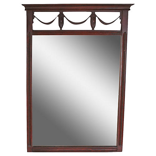 French Empire-Style Mahogany Mirror