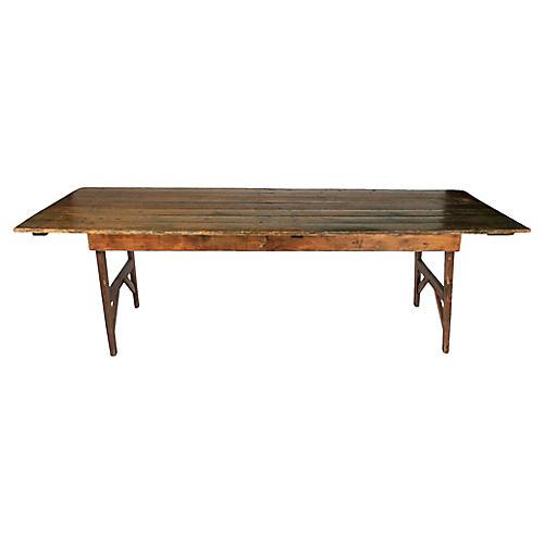 Rustic Pine Harvest Table