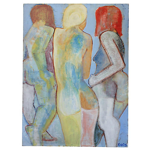 Abstract Nudes Oil Painting