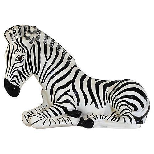 Recumbent Zebra