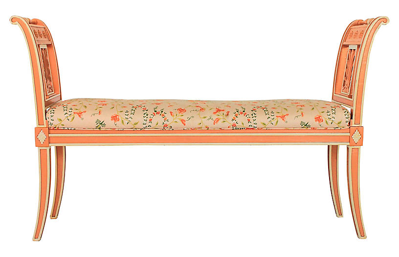 Italian Floral Bench