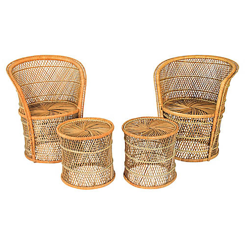 Wicker Chairs & Tables