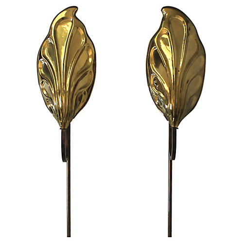 Chapman Leaf Wall Sconces, Pair
