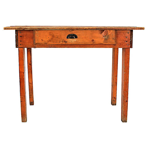 Rustic Pine Farm Table or Writing Desk