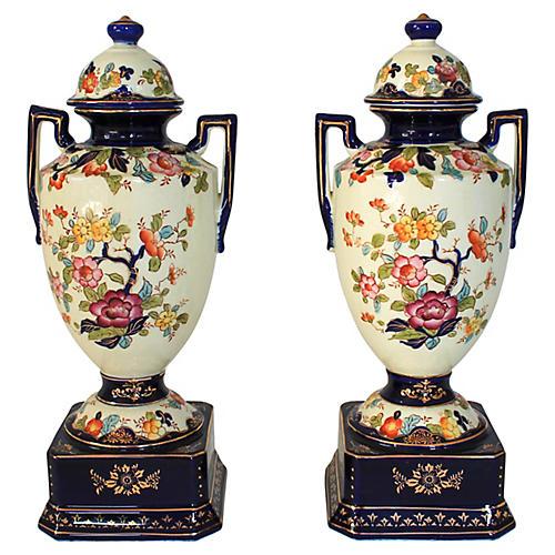 Japanese Urns, Pair