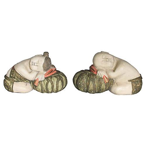 Decorative Sleeping Asian Figurines