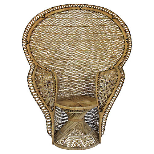 Boho Wicker Peacock Chair