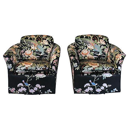 Swivel Club Chairs by Century