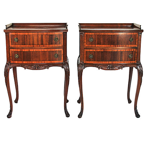 Louis XV-style Bedside Tables, Pair