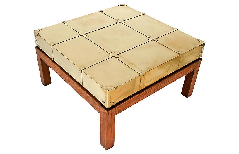 Brass Coffee Table by Sarreid