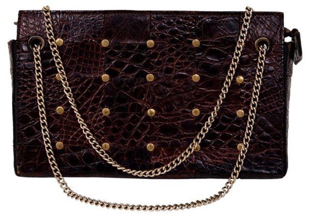 Leather Gold Stud Bag