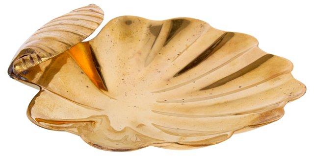 Brass Scalloped Shell Dish