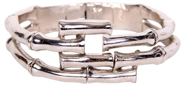 Trifari Bamboo-Style Clamper Bracelet