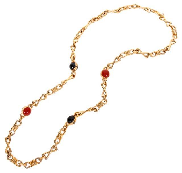 Cabochon Link Necklace