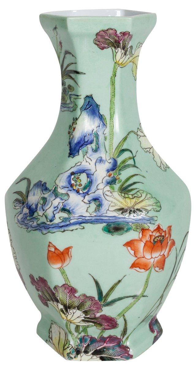 Asian Porcelain  Lotus Vase