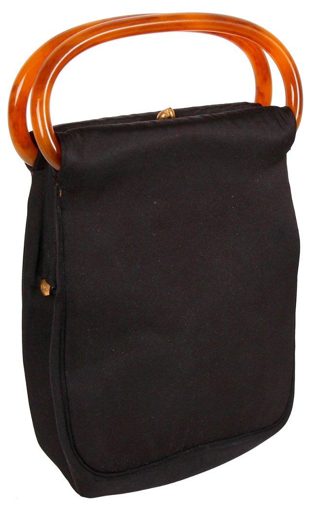 Koret Evening Bag w/ Lucite Handles