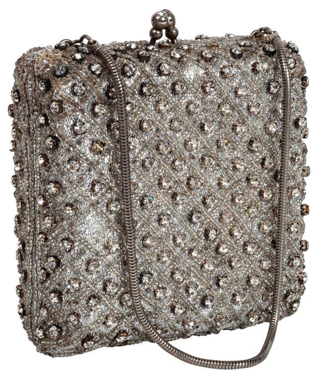 Rhinestone Box Handbag