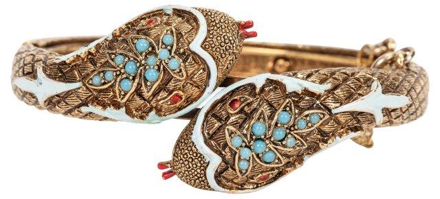 Art Enamel Snake Bracelet
