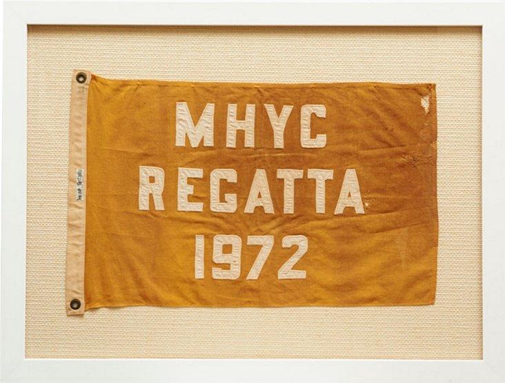 Framed MHYC Regatta Pennant