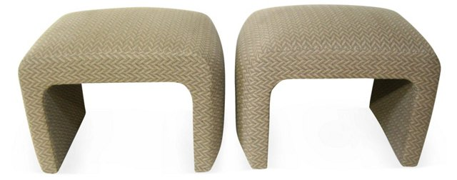 Donghia-Style   Ottomans, Pair