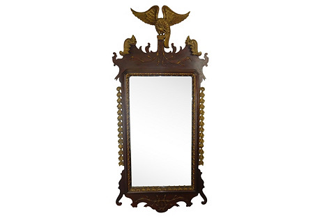 Federal Carved Eagle Mirror