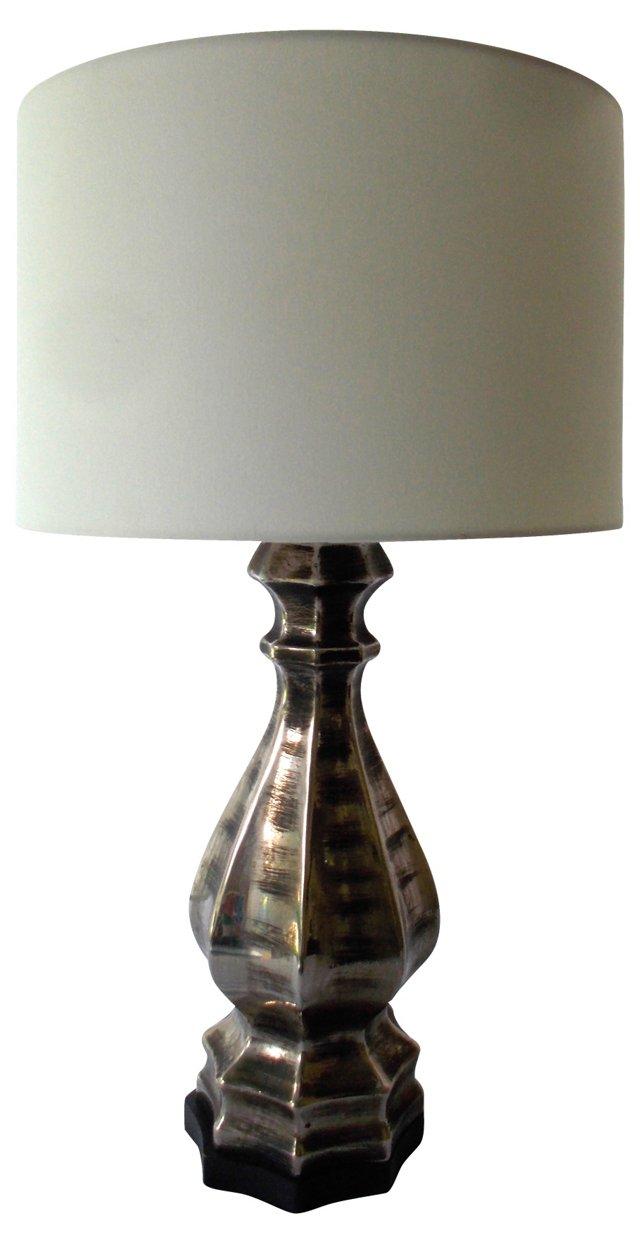 Silver & Black Lamp