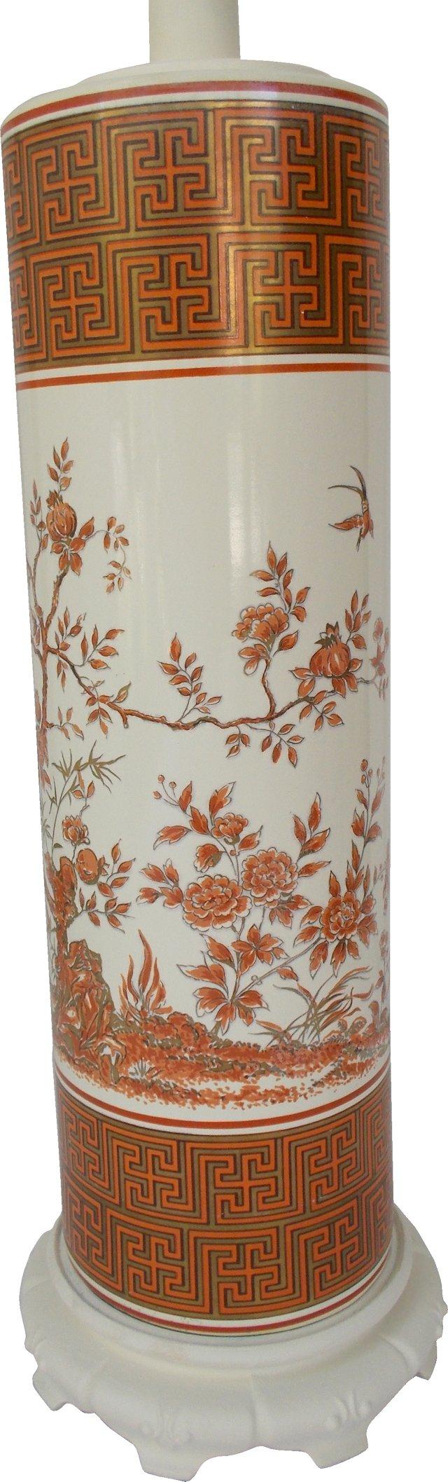 Porcelain Chinoiserie Lamp