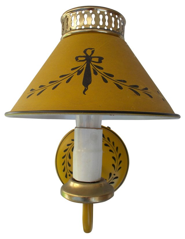 Yellow Tole Sconce