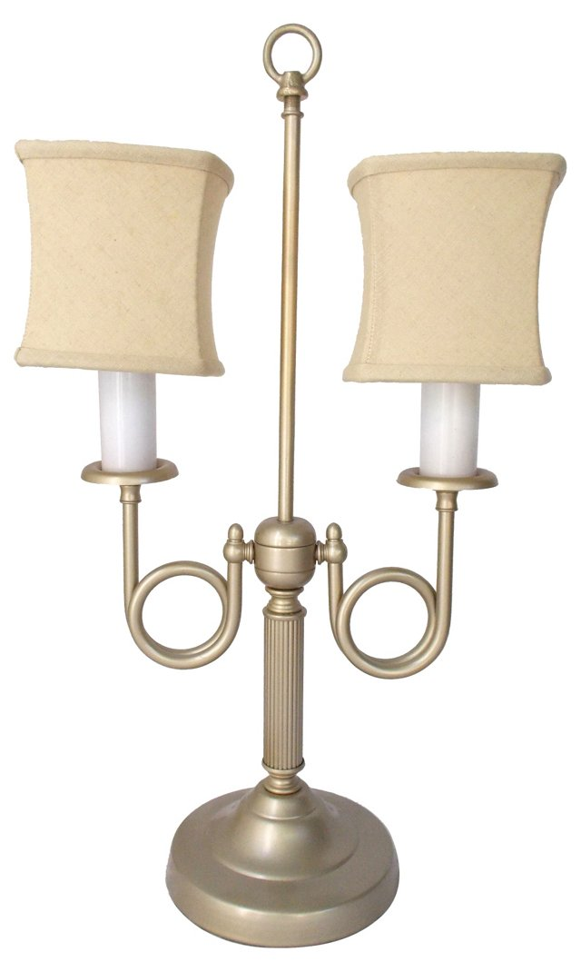 Painted Brass Double-Bugle Lamp