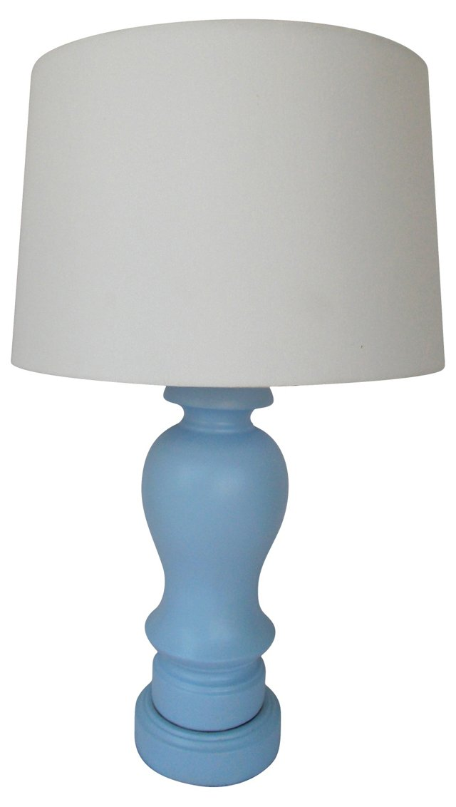 Periwinkle Blue Ceramic Lamp